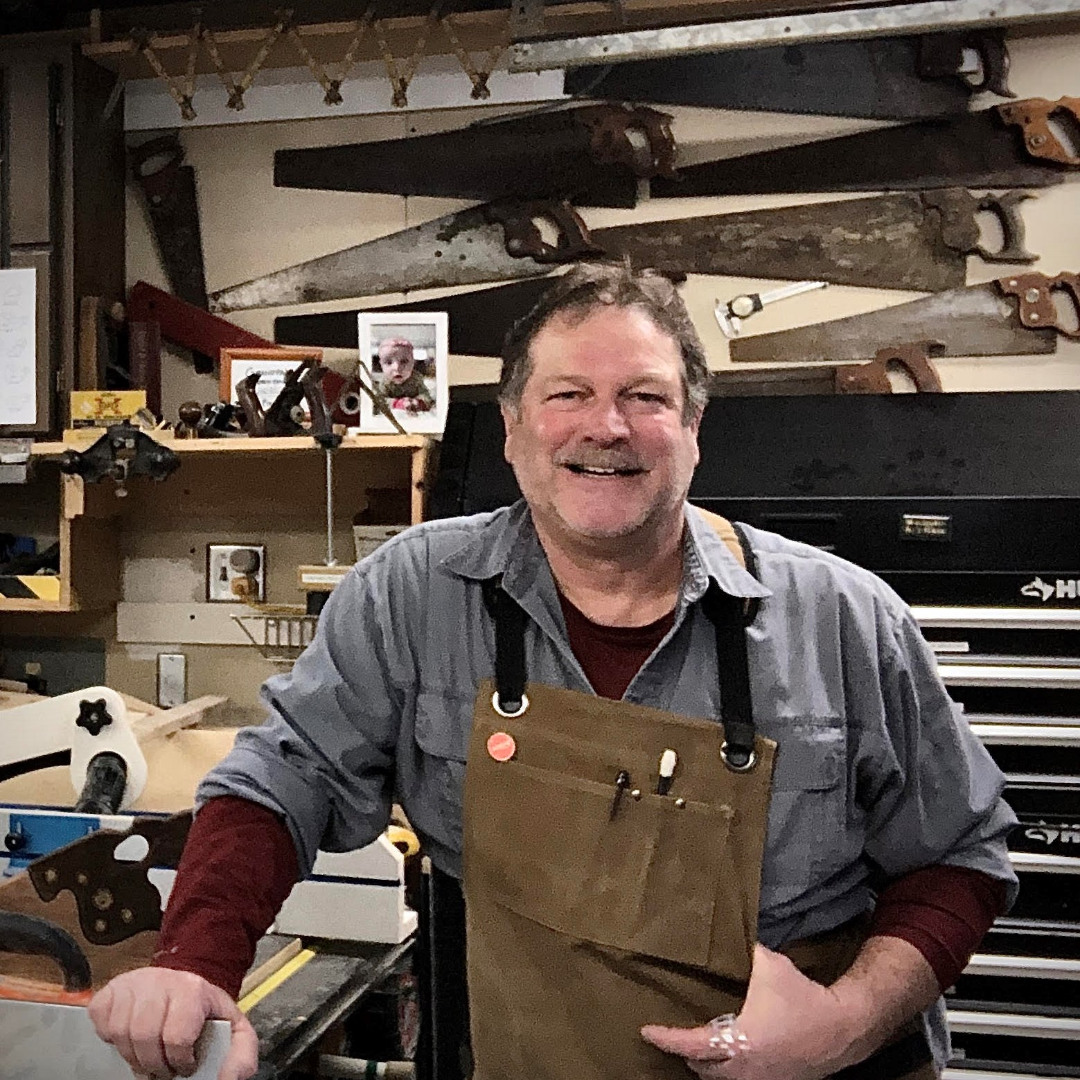 Al in his workshop